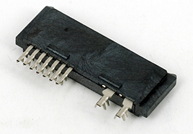 湖南SATA7+6P 铆压式 LCP料 B款 直角 母头