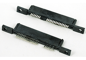 湖南SATA7+15P 焊线 带螺丝孔母头 LCP料 孔径3.25MM
