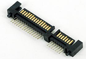 上海SATA7+15P 焊线/DIP式 公头 LCP料