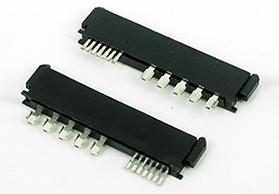 湖南SATA7+15P 焊线式 母头 PBT料