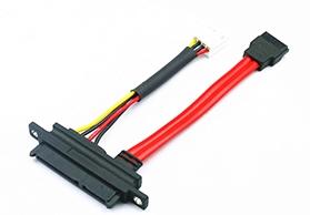 SATA7+15P 带螺丝孔连接线
