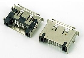 ESATA7P 双排 DIP 插件式 公头 带卷边