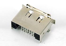 ESATA7P板上DIP插件式公头带卷边