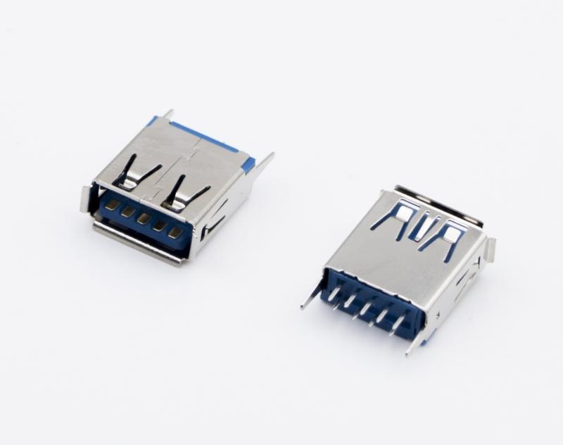 USB3.0 AF  立式SMT 蓝胶