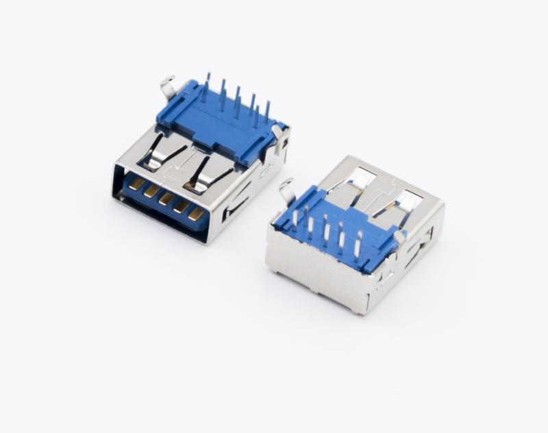 USB3.0 AF 卧式SMT 蓝胶